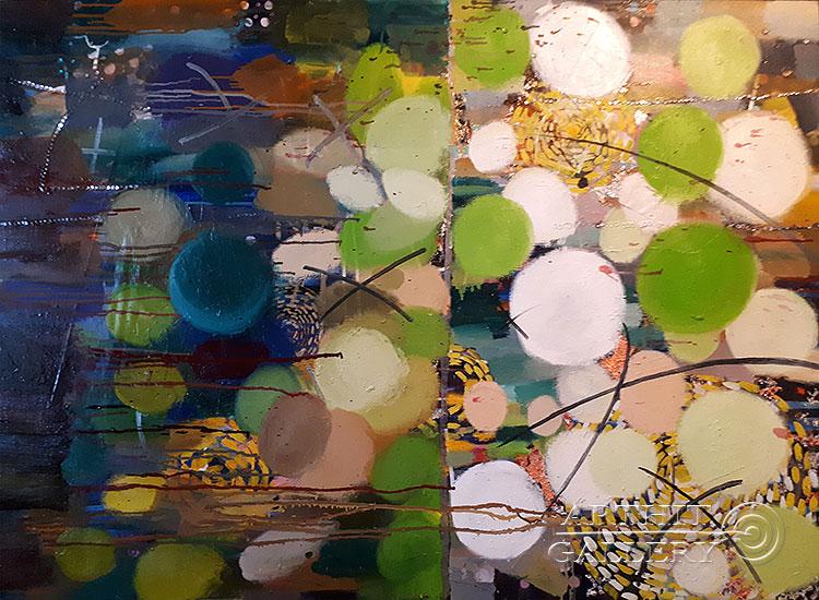 ''Девочка с собакой''.  Абрамова Ирина. Продажа картин, предметов декоративно-прикладного искусства