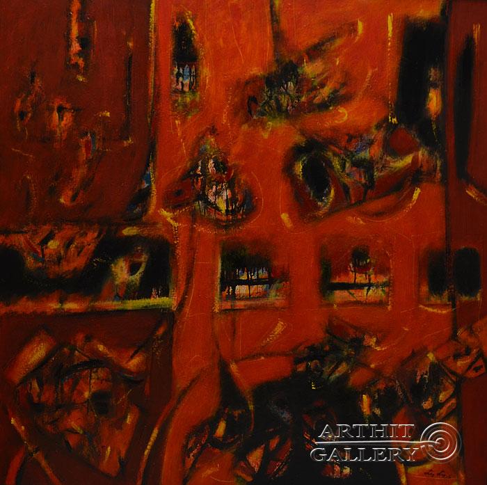 ''Красное начало''.  Лео Лео. Продажа картин, предметов декоративно-прикладного искусства