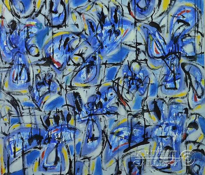 ''Голубой пейзаж''.  Лео Лео. Продажа картин, предметов декоративно-прикладного искусства