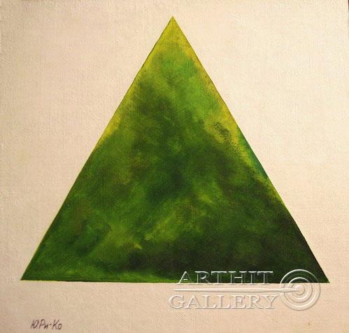 'Hi Malevitch! Green triangle'. Rimsky-Korsakov Yuriy