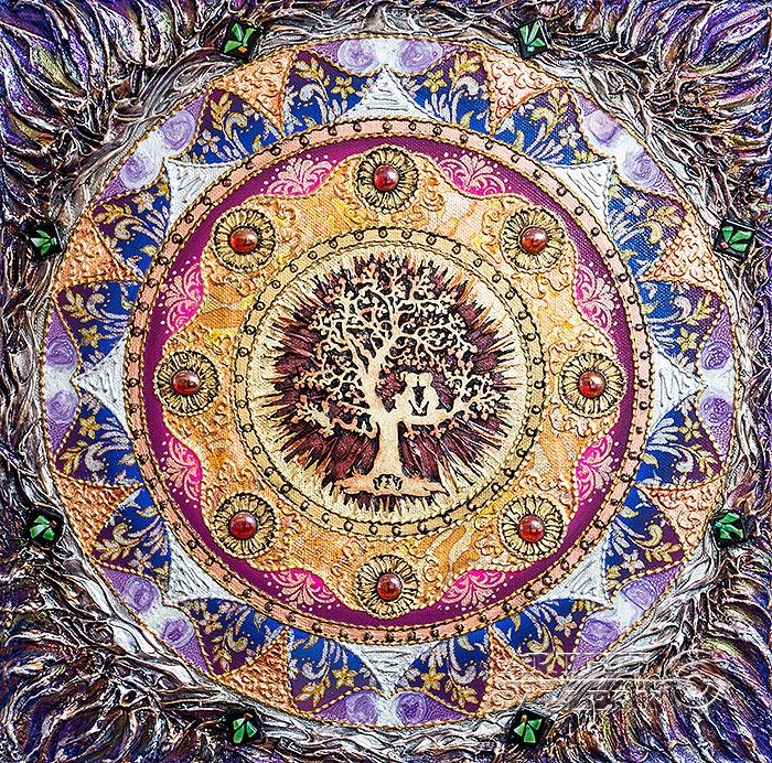 'Mandala `The Love Tree`'. Karlova Elena