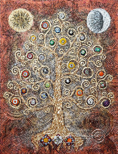 'Picture `The tree of fertility`'. Karlova Elena