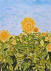 ''Sunflowers''. Bolokhova Vera. Impressionism