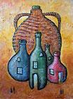 ''A jug and four bottles''. Lomovtzev Konstantin. Surrealism
