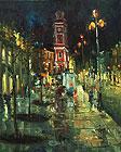 ''Guest Court''. Basiladze Rostom. Impressionism