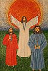 ''The Holy Trinity  `People, look round`''. Belova Nina. Naive art