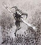 ''The Fatalist''. Shelbaev `Shel` Zurab. Drawing