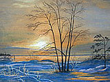 ''Icy sunset''.