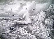 ''Странники моря''. Кулагин Олег. Графика