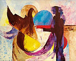 ''Dialogue with a bird''.
