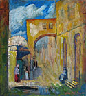 ''Old Jerusalem''. Mutall Avaz. Impressionism