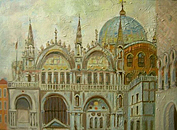 ''Venice. Basilica of San Marco''. Silaeva Nina. Impressionism