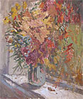 ''A riot of colors in the window''.