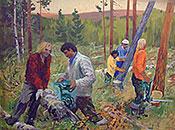 ''Тайга отступает''. Титов Юрий Александрович. Реализм
