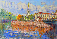 ''Near Nikolsky Cathedral''. Devochkin Kirill. Impressionism