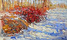''Red Spring''. Devochkin Kirill. Impressionism