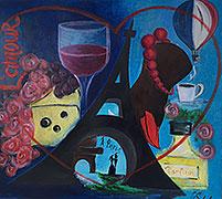 ''Paris in the heart ''. Sobol Galina. Conceptual symbolism