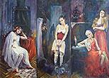 ''Brothel. Four rooms''. Malakhova Svetlana. Impressionism