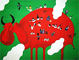 ''Siberian Crane''. Bukhrov Dmitry. Naive art