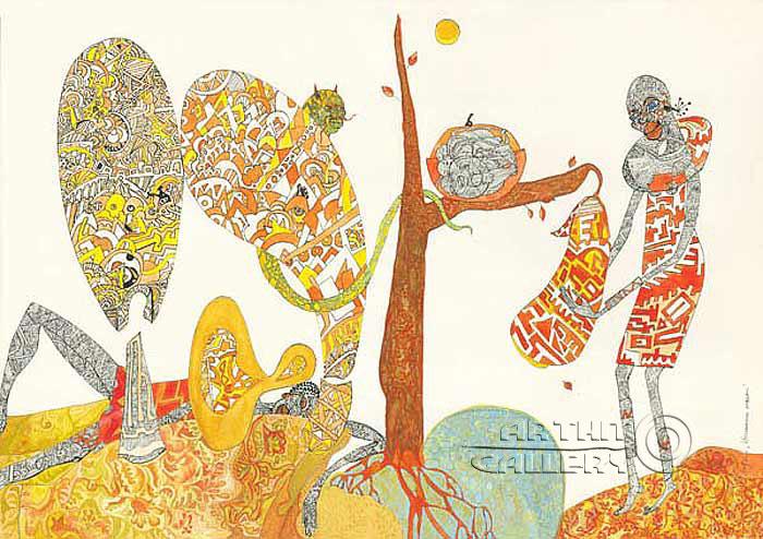 ''Искушение плодом''.  Лонли Лола. Продажа картин, предметов декоративно-прикладного искусства