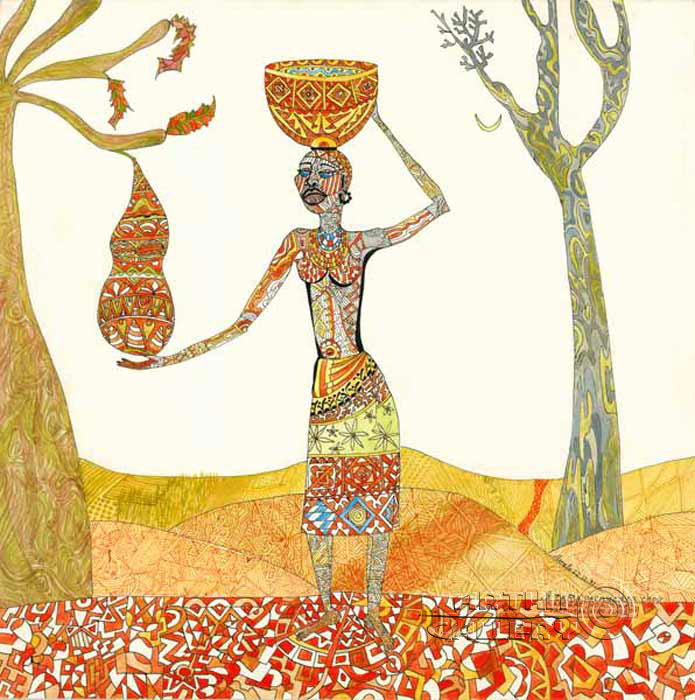 'I painted myself my kalebas, |but who painted the kalebas fruit?'. Lonli Lola