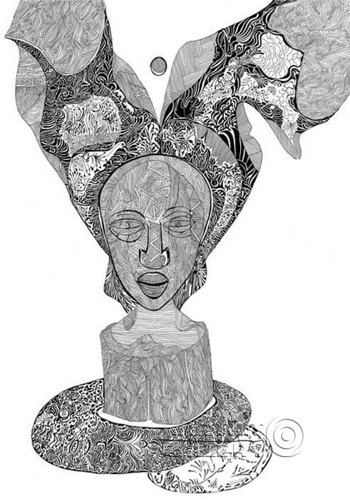 'The thinking woman'  by Lonli Lola