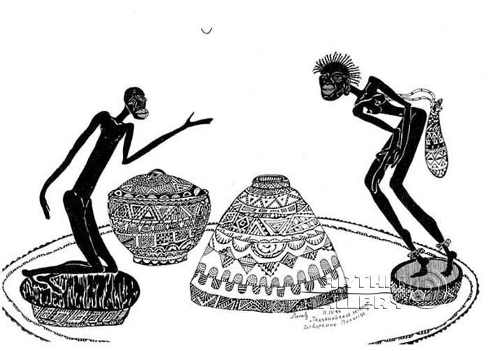 'The legend of makonde`s origin'. Lonli Lola