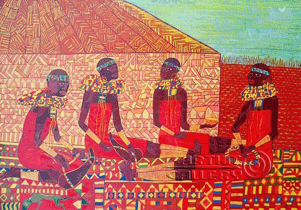 ''Масайские женщины умеют делать красивые вещи''.  Лонли Лола. Продажа картин, предметов декоративно-прикладного искусства