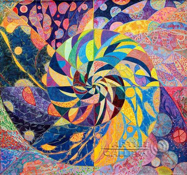 ''Сворачивание вселенной''.  Лонли Лола. Продажа картин, предметов декоративно-прикладного искусства
