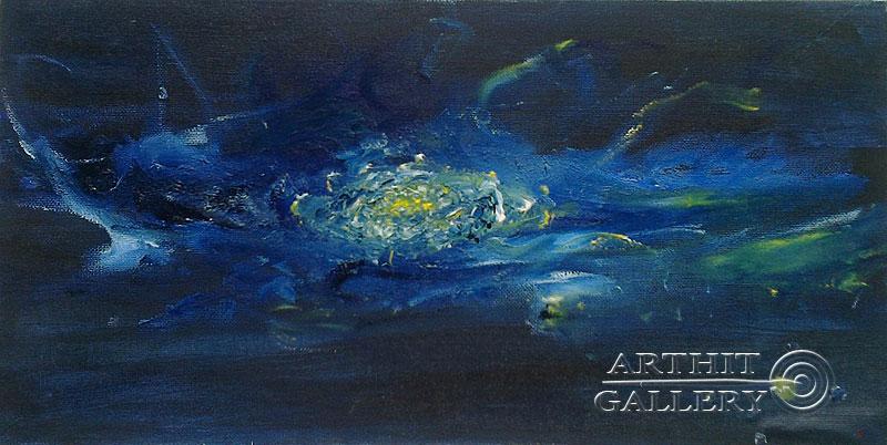 ''Галактика `Сапфир` ''.  Генцарь Рената. Продажа картин, предметов декоративно-прикладного искусства