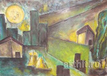 ''Тосканский пейзаж''.  Бенчини Джанфранко. Продажа картин, предметов декоративно-прикладного искусства