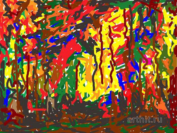 'Light among the poplars'  by Bencini Gianfranco