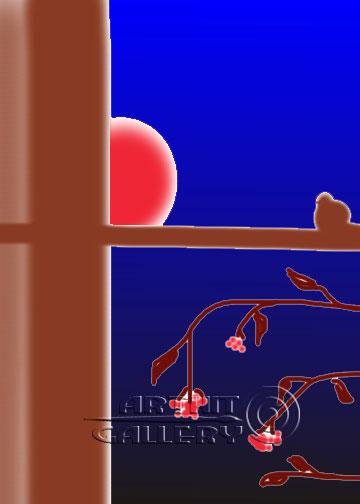 ''Рябинка''.  Штыкова Ирина. Продажа картин, предметов декоративно-прикладного искусства