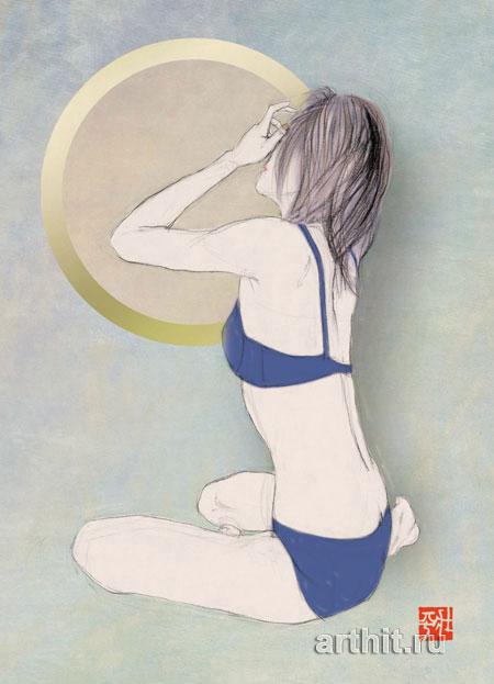''Лунный свет / Постер''.  Соухей. Продажа картин, предметов декоративно-прикладного искусства