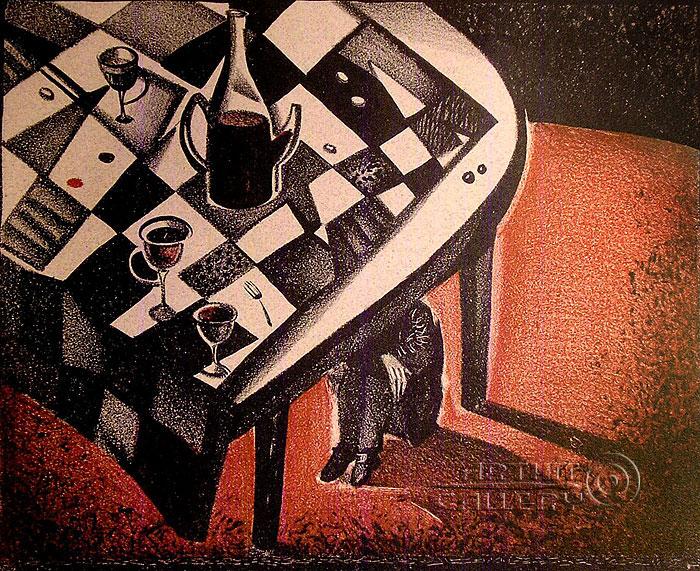 ''Гоголь. Стол''.  Токарева Анна. Продажа картин, предметов декоративно-прикладного искусства