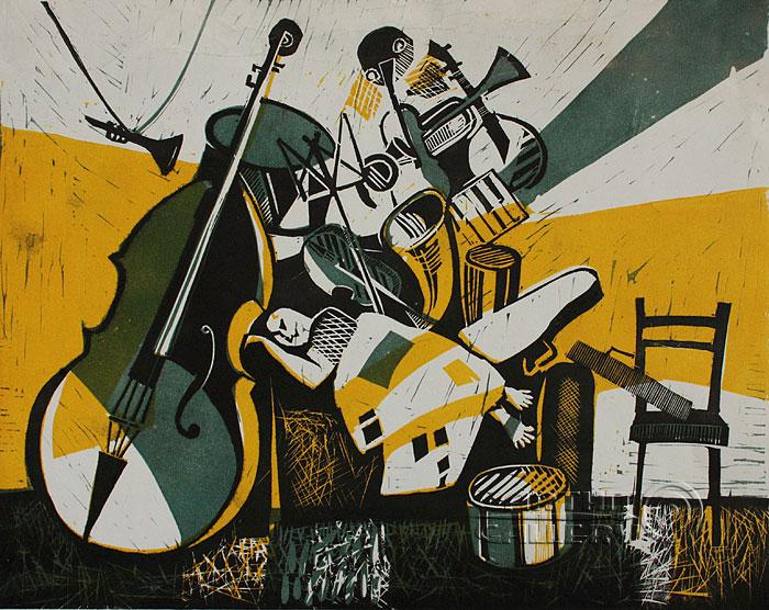 ''Сны музыканта''.  Токарева Анна. Продажа картин, предметов декоративно-прикладного искусства