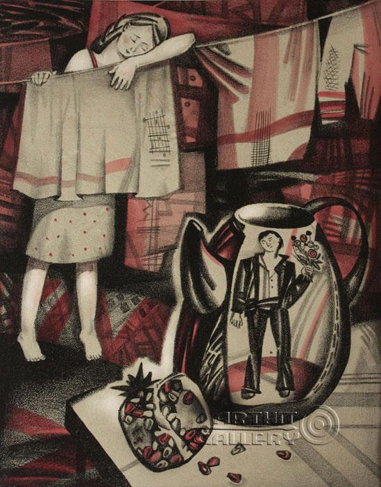 ''Пришёл! и с сюрпризом!''.  Токарева Анна. Продажа картин, предметов декоративно-прикладного искусства