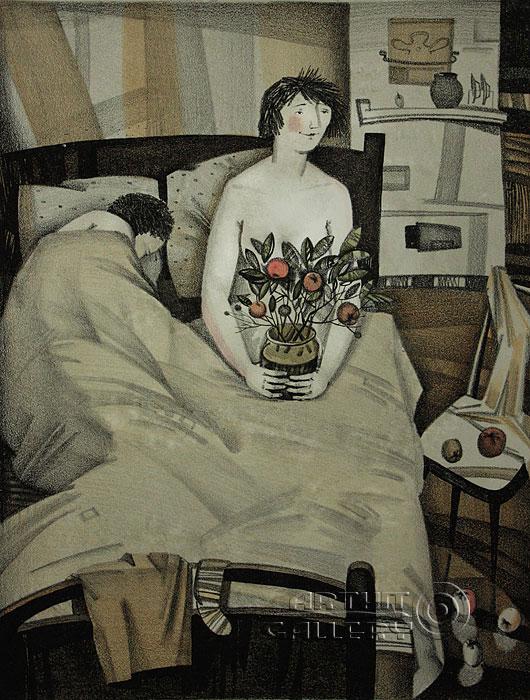 ''Счастливая''.  Токарева Анна. Продажа картин, предметов декоративно-прикладного искусства
