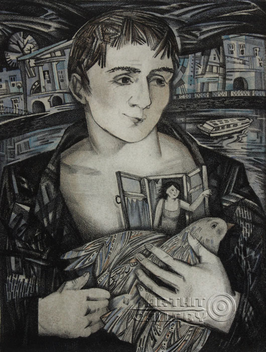 ''Влюблённый''.  Токарева Анна. Продажа картин, предметов декоративно-прикладного искусства