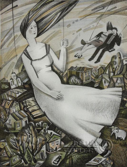 ''Качели''.  Токарева Анна. Продажа картин, предметов декоративно-прикладного искусства