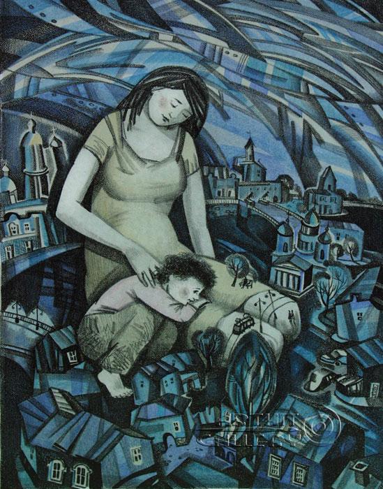 ''Майская ночь''.  Токарева Анна. Продажа картин, предметов декоративно-прикладного искусства
