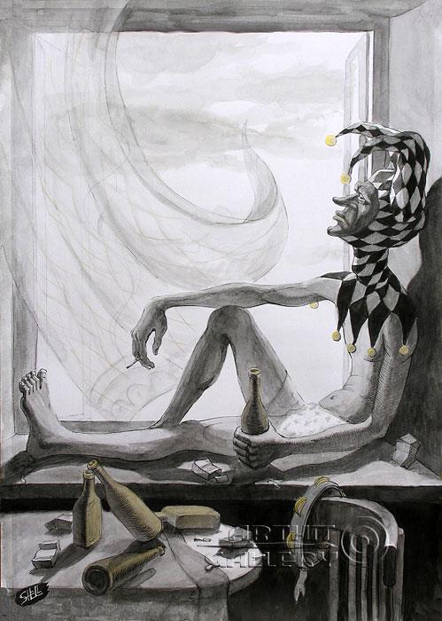 ''Устать от себя''.  Шелбаев Зураб `Шел`. Продажа картин, предметов декоративно-прикладного искусства
