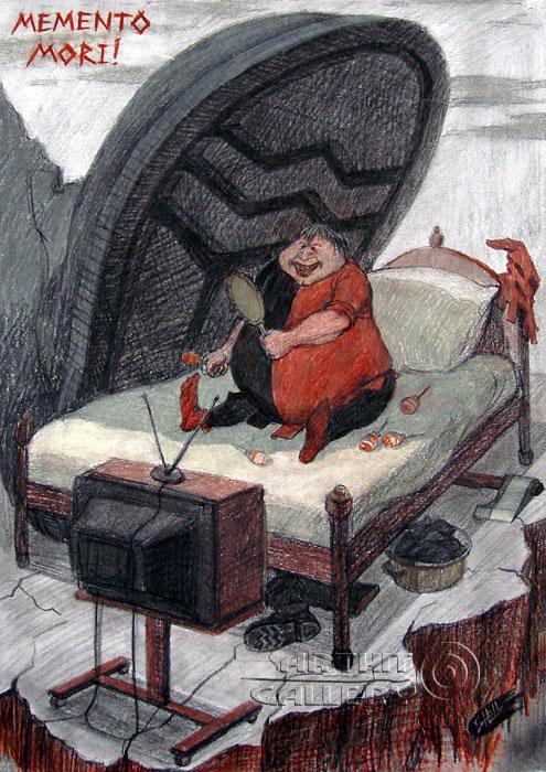 ''Помни о смерти!''.  Шелбаев Зураб `Шел`. Продажа картин, предметов декоративно-прикладного искусства