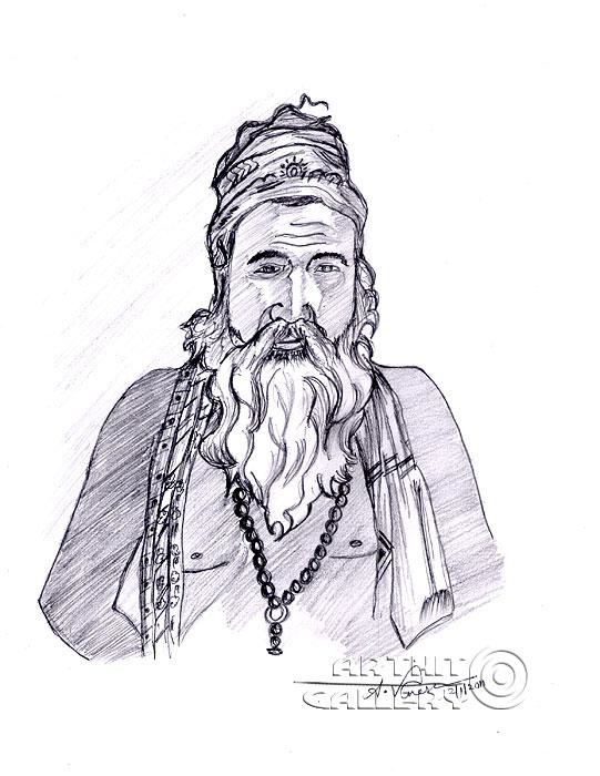 ''Монах ''.  Анандхан Вигнеш. Продажа картин, предметов декоративно-прикладного искусства