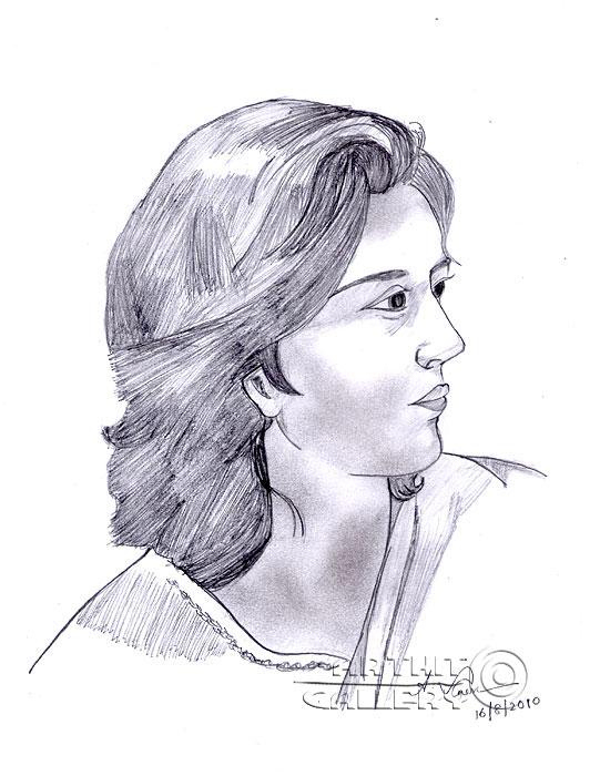 ''Решительная женщина''.  Анандхан Вигнеш. Продажа картин, предметов декоративно-прикладного искусства