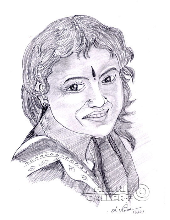 ''Улыбка девушки''.  Анандхан Вигнеш. Продажа картин, предметов декоративно-прикладного искусства