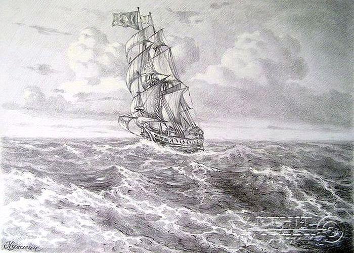 ''Ветер в паруса''.  Кулагин Олег. Продажа картин, предметов декоративно-прикладного искусства