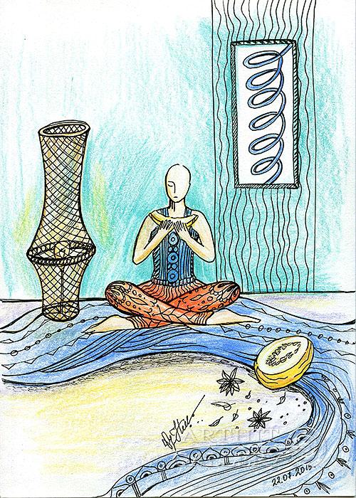 ''Melon''.  Сыроватская Наталья. Продажа картин, предметов декоративно-прикладного искусства