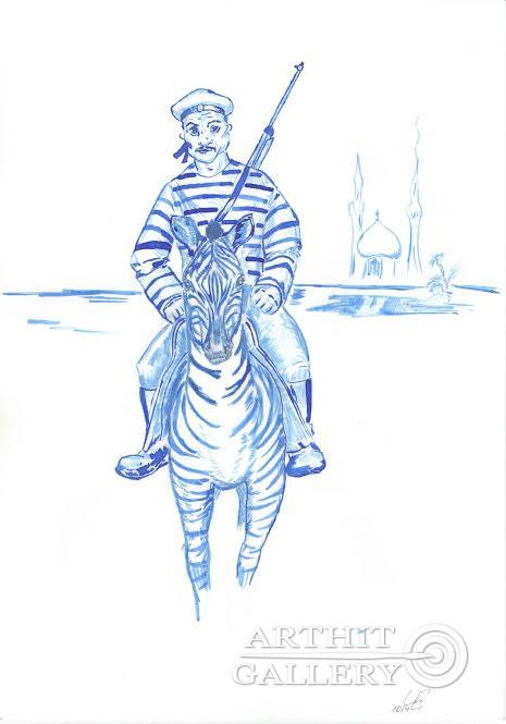 ''Психическая атака''.  Чикалова Елена. Продажа картин, предметов декоративно-прикладного искусства