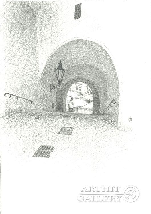 'Town hall stairs'. Klymenko Ivan